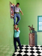 When the wives let their husbands do the household chores...