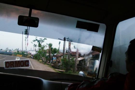 On the road towards Tacloban